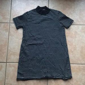 3/$30 Zara Trafaluc Black Striped Collared Top